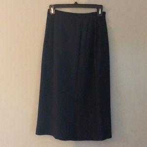 100% SILK! Plum Purple Midi Pencil Skirt!!